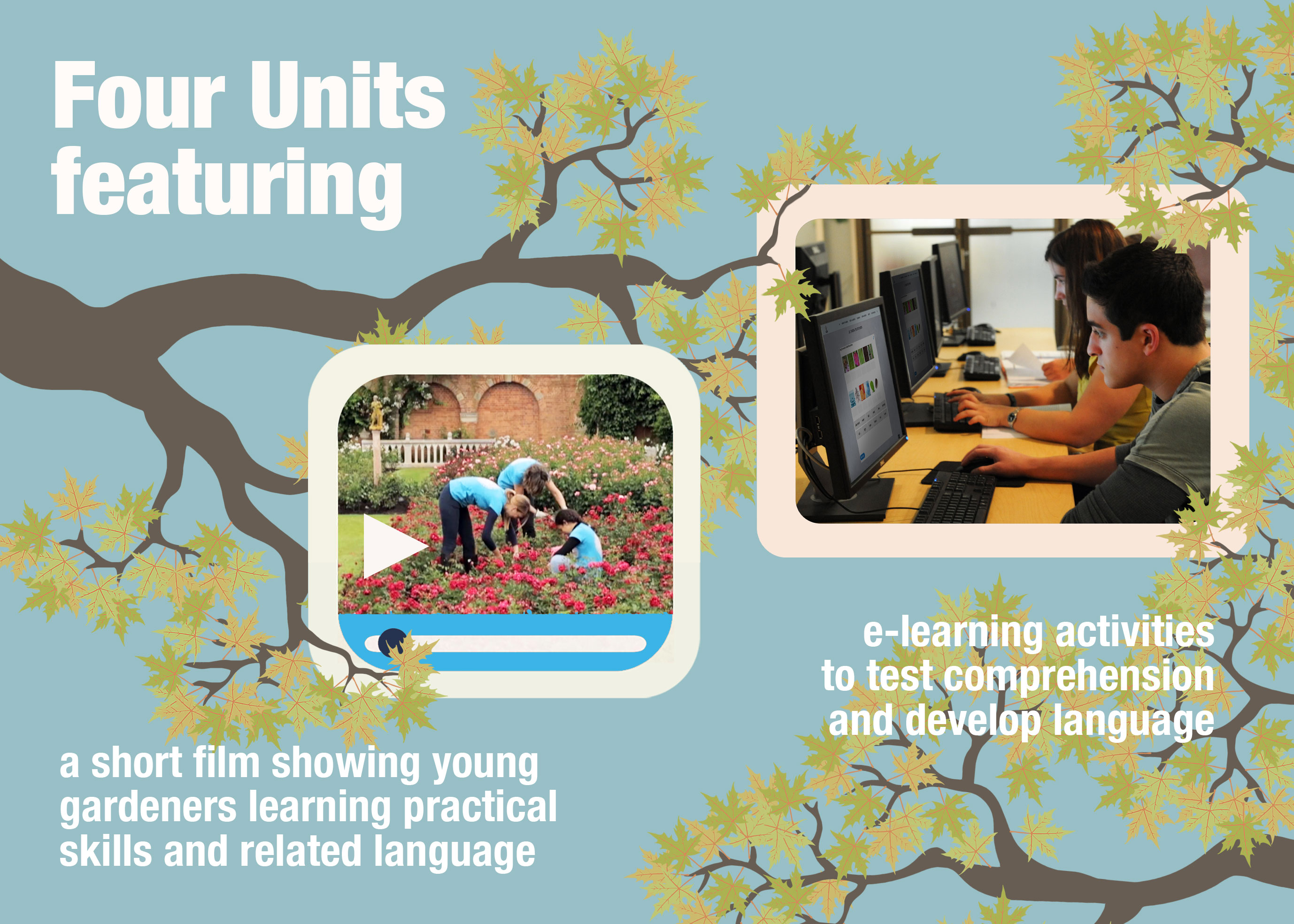 ETG - Four units featuring film and e-learning activities