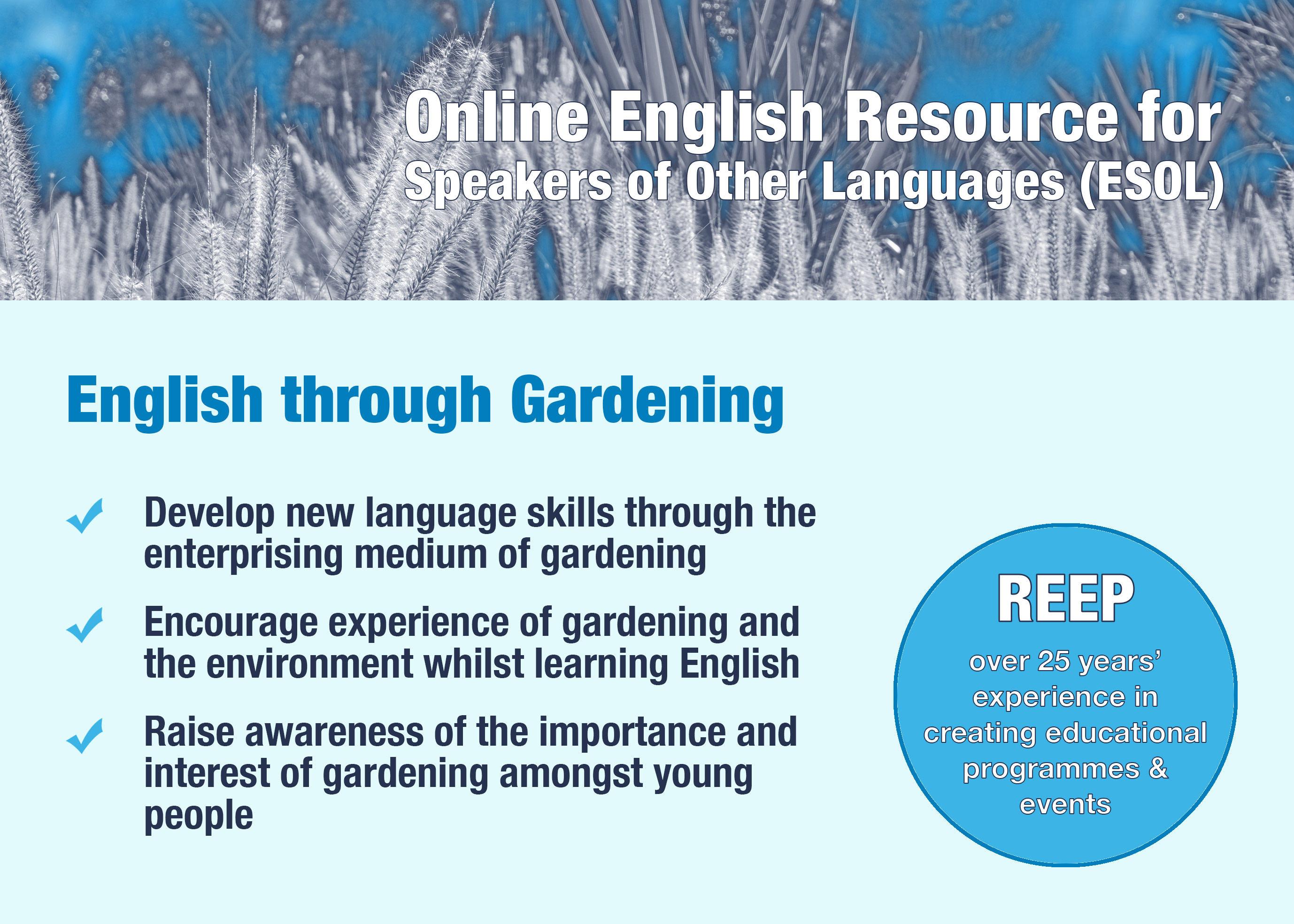 Online resource for Speakers of English as an Other Language (Level 2) - Aims and Objectives