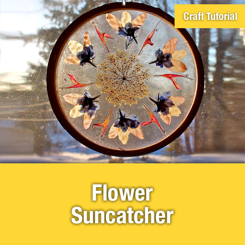 ETG Craft Tutorial | Flower Suncatcher
