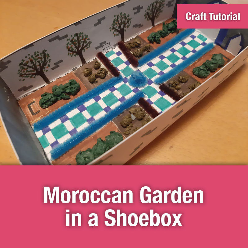 ETG Craft Tutorial | Moroccan Garden in a Shoebox