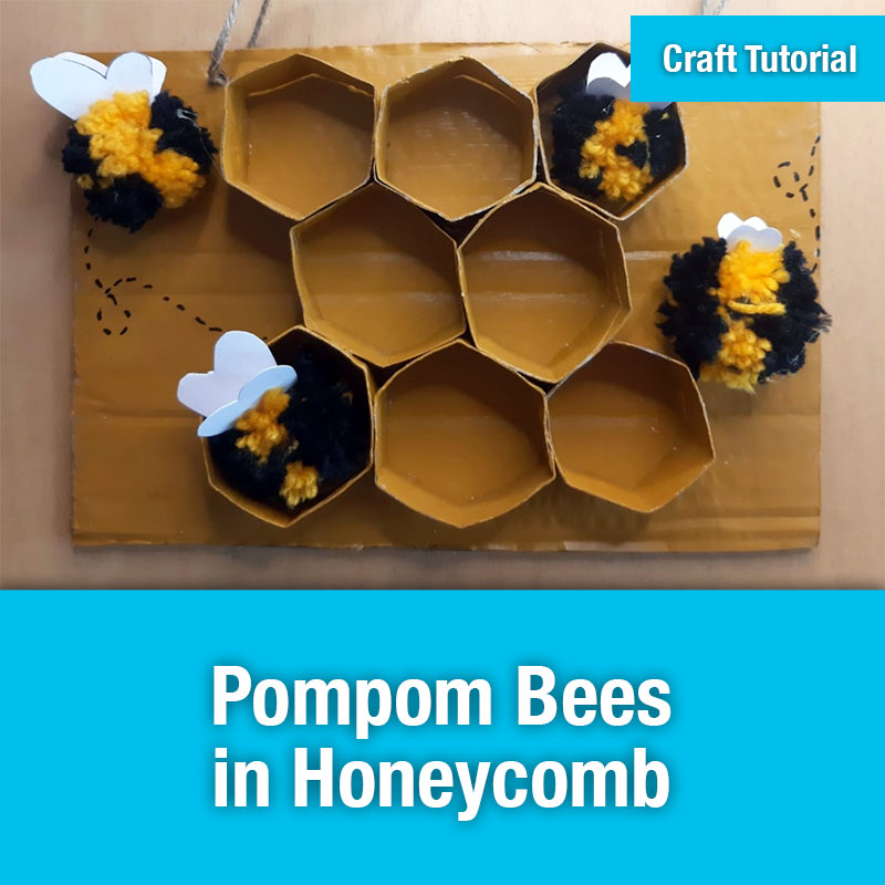 ETG Craft Tutorial | Pompom Bees in Honeycomb