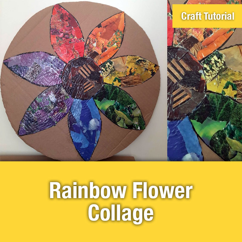 ETG Craft Tutorial | Rainbow Flower Collage