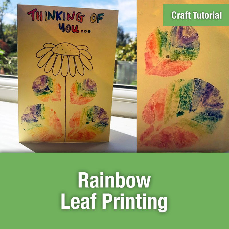 ETG Craft Tutorial | Rainbow Leaf Printing