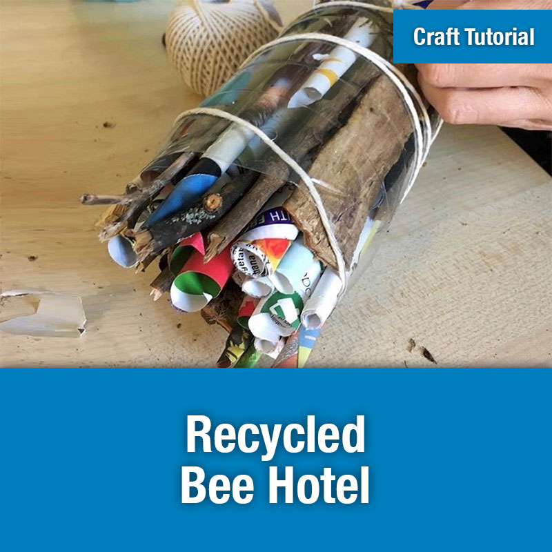 ETG Craft Tutorial | Recycled Bee Hotel