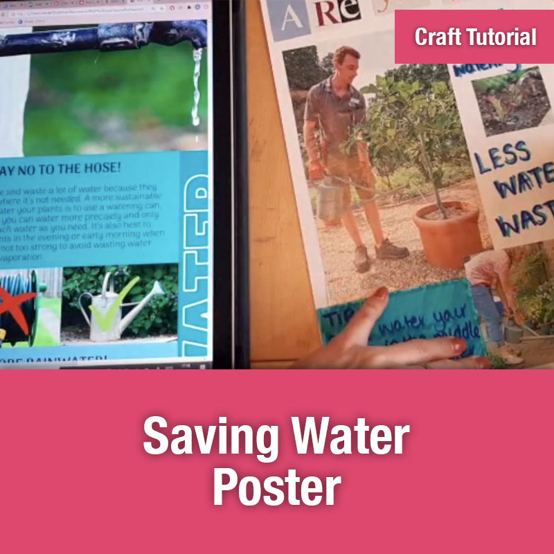 ETG Craft Tutorial | Saving Water Poster