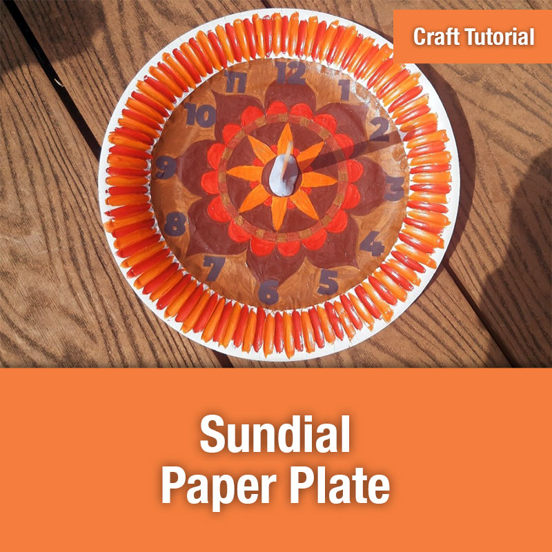 ETG Craft Tutorial | Sundial Paper Plate