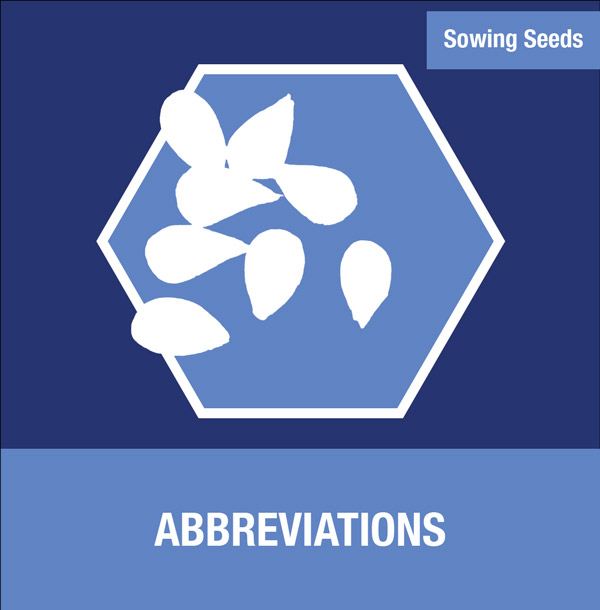 Sowing Seeds: Abbreviations