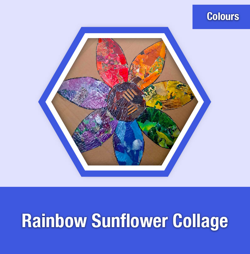 Rainbow Sunflower Collage | COL-1F | IMAGE PREVIEW