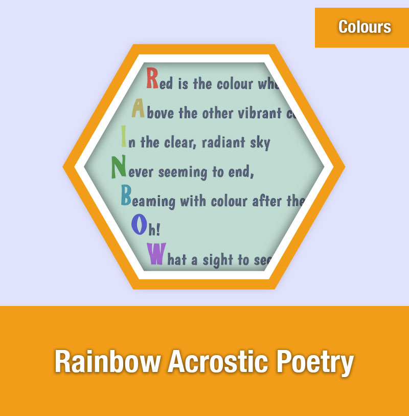 Rainbow Acrostic Poetry | COL-2C | IMAGE PREVIEW