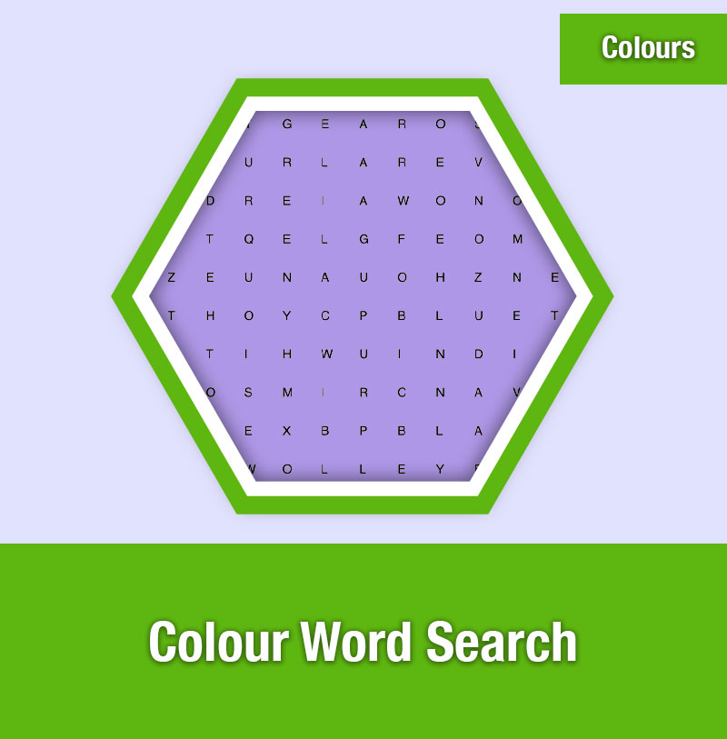 Colour Word Search | COL-3A | IMAGE PREVIEW