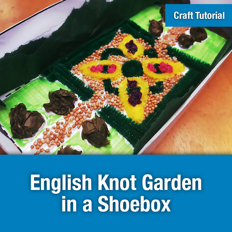 English Knot Garden in a Shoebox IMAGE PREVIEW