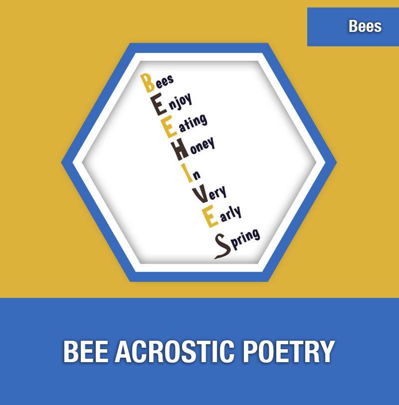 BEE-5A Bee Acrostic Poetry | Image Preview