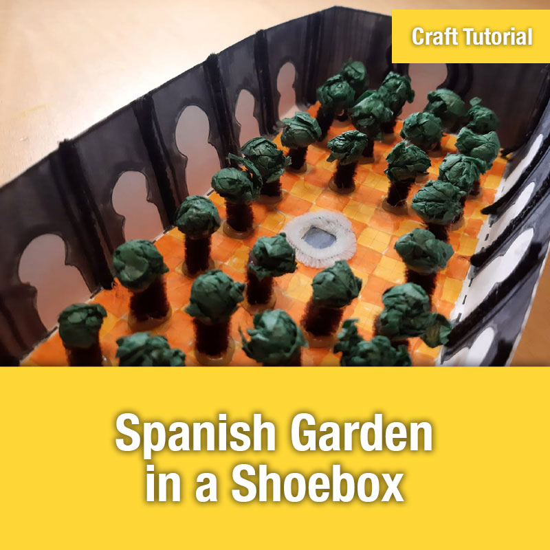 Spanish Garden in a Shoebox Craft IMAGE PREVIEW