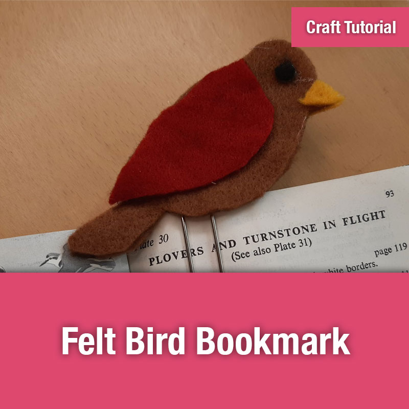Felt Bird Bookmark - Image Preview