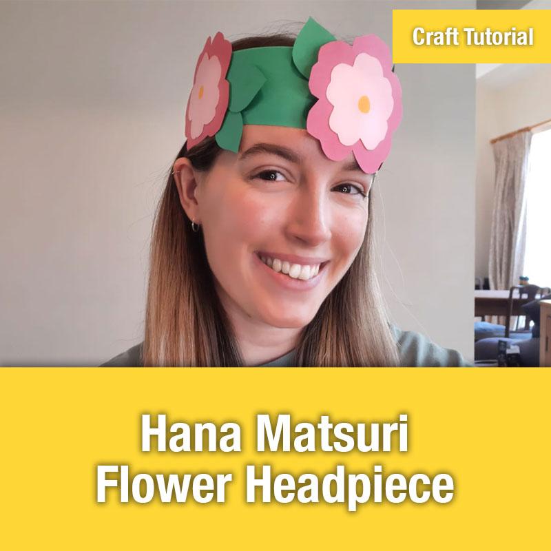 Hana Matsuri Flower Headpiece IMAGE PREVIEW