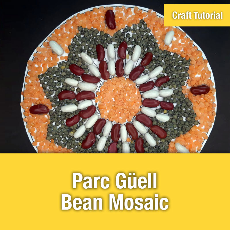 Parc Güell Bean Mosaic | IMAGE PREVIEW
