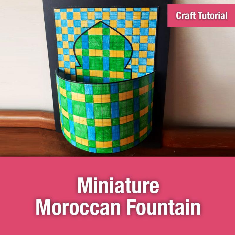 Miniature Moroccan Fountain - IMAGE PREVIEW