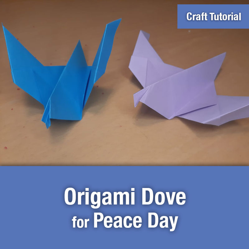 Origami Dove for Peace Day | IMAGE PREVIEW
