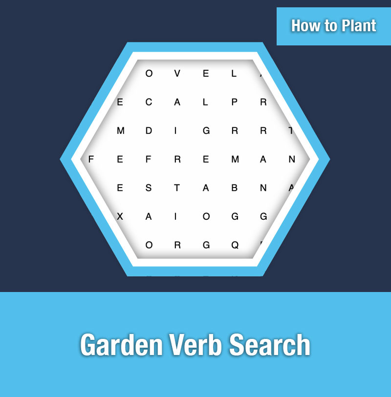 HOW TO PLANT   Garden Verb Search